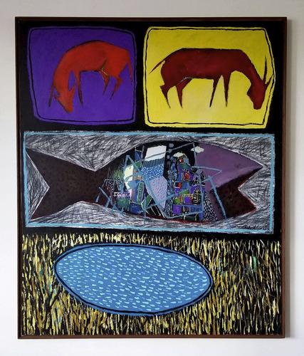 cuadro arte moderno contemporáneo original roberto gorki
