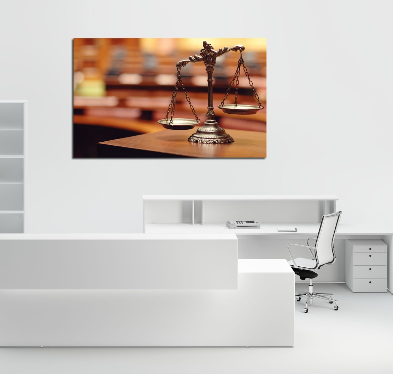 Cuadro Balanza Justicia Abogacia Tambien Con Tu Logo 40x60cm  # Muebles A Medida La Justicia