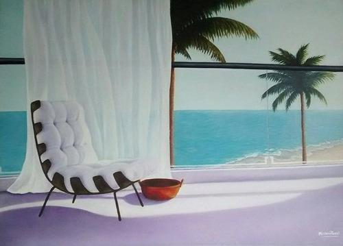 cuadro balcón al mar