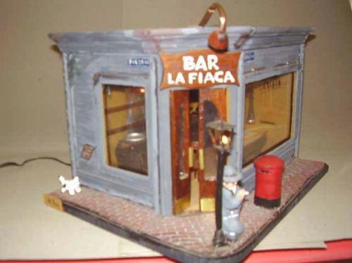 cuadro bar antiguo  la fiaca  iluminado miniatura