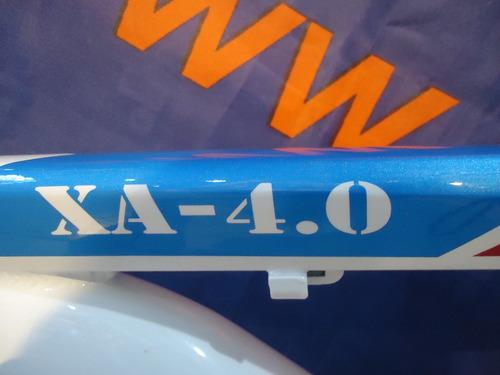 cuadro bicicleta bkzam rod 29 bco/roj/azul t17 - racer bikes