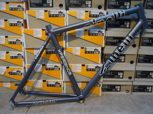 cuadro bicicleta cinelli aluminio gris - racer
