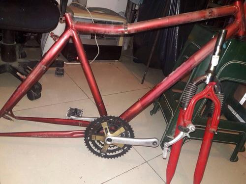 cuadro bicicleta mountain bike y horquilla c suspensión