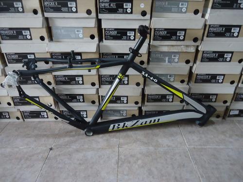 cuadro bicicleta mtb bkzam xa-40 rodado 26 negro/amarillo t19 - racer bikes