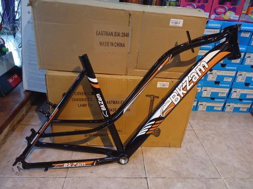 cuadro bicicleta mtb dama bkzam aluminio hidroformado con horquilla suspencion aluminio - racer bikes