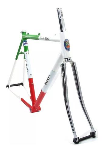 cuadro bicicleta pista fixie gios italia vintage + horquilla