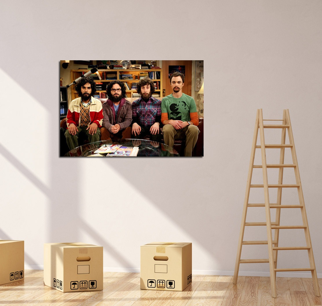 Cuadro Big Bang Theory Barbas Ciencia Serie Funny 20x30cm 150  # Muebles Big Bang Theory