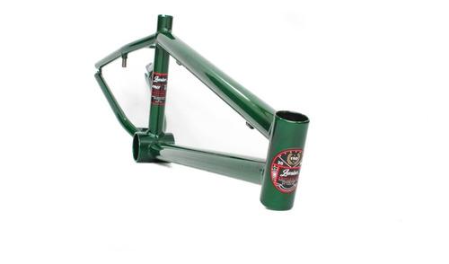 cuadro bmx fad verde ¡liviano y resistente! freestyle
