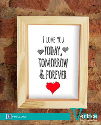 cuadro box romántico - 18x24 cm - san valentín