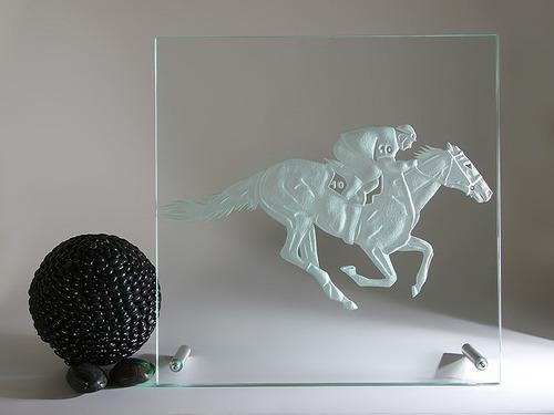 cuadro caballo de cristal moderno decoración
