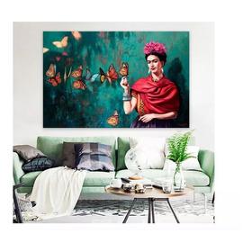 Cuadro Canvas Frida Kahlo Grande En Lienzo Con Bastidor
