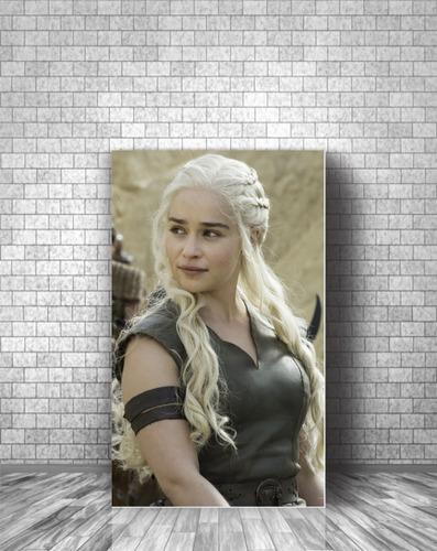 cuadro canvas moderno game of thrones daenerys targaryen