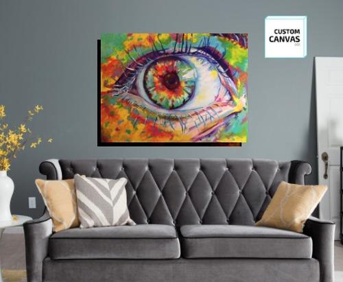 cuadro canvas personalizado diseños arte color decorativo