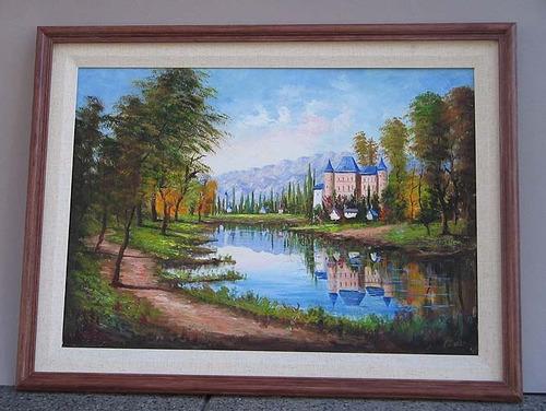 cuadro carlos filippo castillo oleo firm original enmarcado