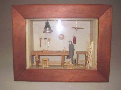 cuadro carpinteria miniatura en profundidad