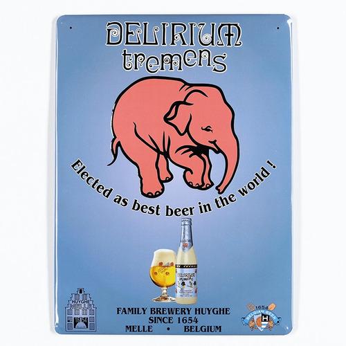 cuadro cerveza delirium tremens en relieve - sabremos tomar