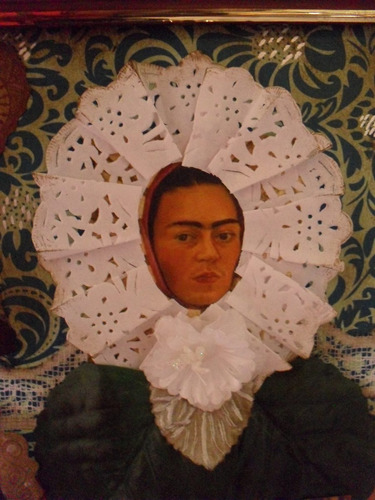 cuadro collage frida kahlo