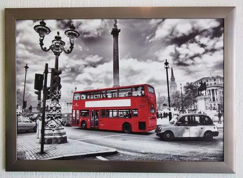 cuadro con impresion en tela canvas con marco  65 x 45 cm