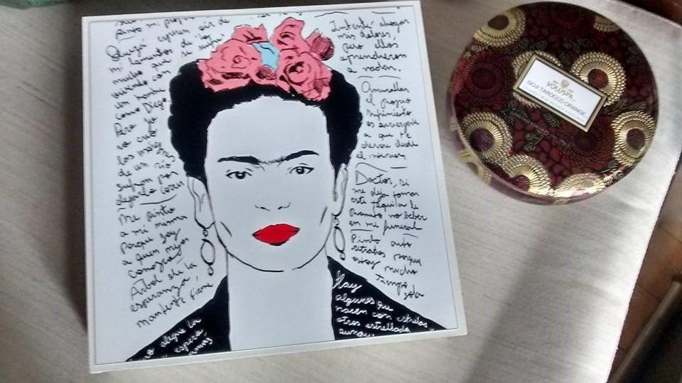 Cuadro Con Lámina Frida Kahlo # 8 - $ 249,90 en Mercado Libre