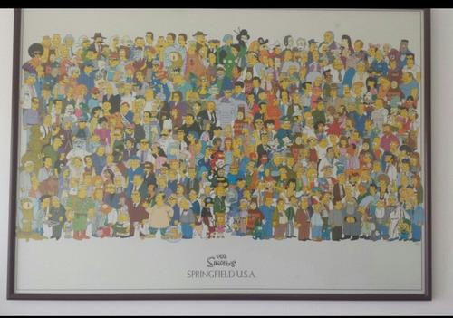 cuadro con los personajes de los simpson