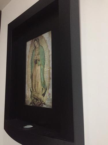 cuadro con luz, bendecido, de la virgen