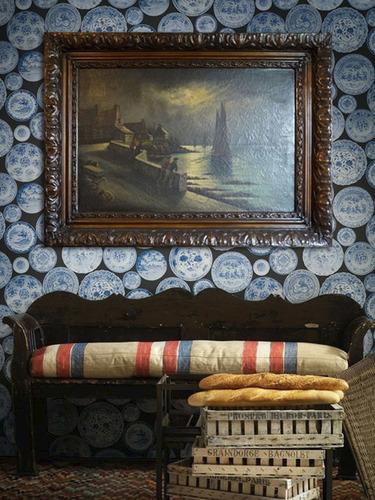 cuadro con marco de madera tallado para espejo 107x77