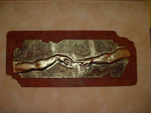 cuadro creación en marco de madera
