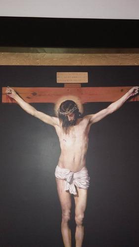 cuadro cristo crucificado marco cajón