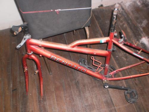 cuadro de bicicleta benotto 26 montañera