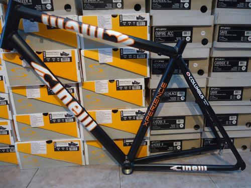 cuadro de bicicleta de ruta cinelli 50 negro - racer bikes