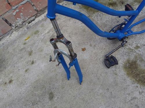 cuadro de bicicleta mujer r26 + horquilla con suspensión