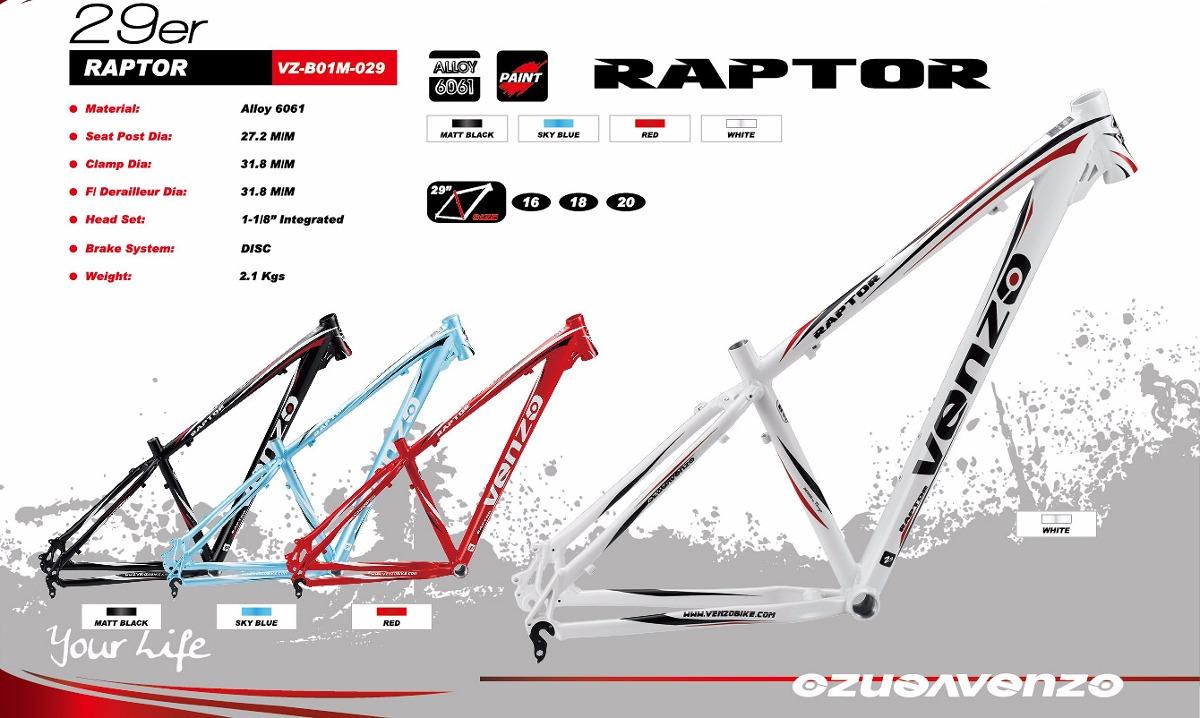 Cuadro De Bicicleta Venzo Raptor R29 Mtb Aluminio - $ 4.900,00 en ...