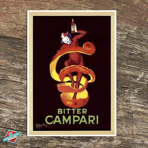 cuadro de chapa retro vintage - aperitivo campari - oferta!!