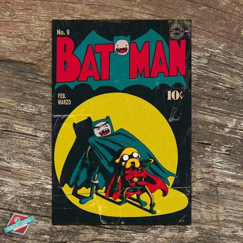 cuadro de chapa retro vintage - batman - oferta!!!