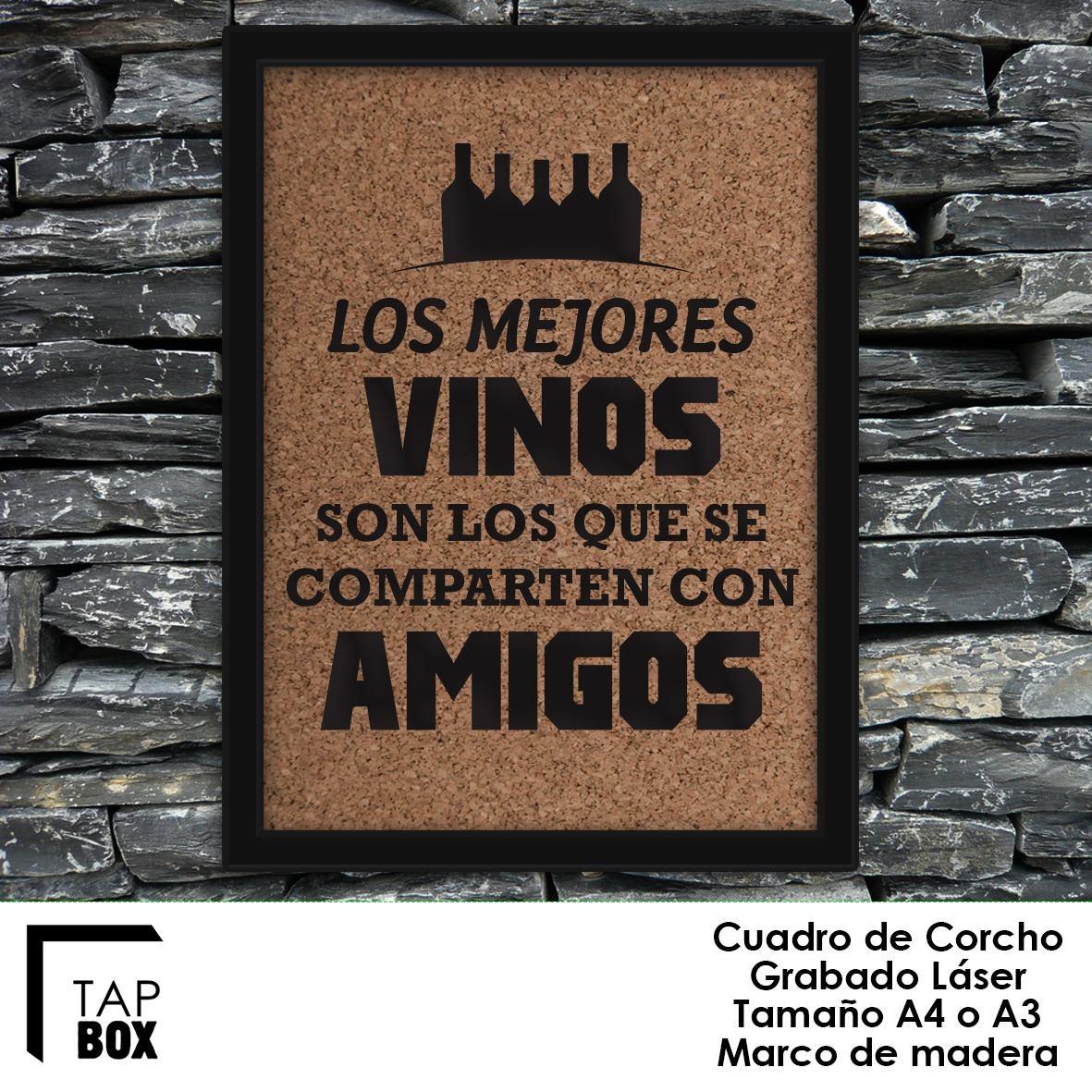 Cuadro De Corcho Con Frase Personalizada Grabado Laser A4 - $ 630,00 ...