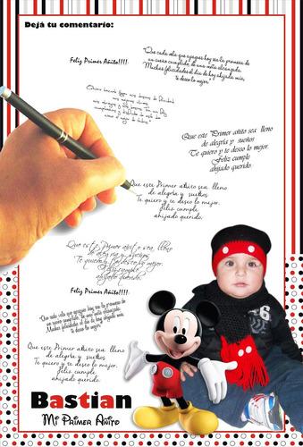 cuadro de firmas y fotos