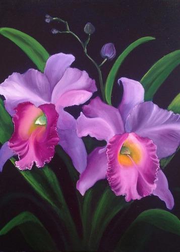 cuadro de flores en tela canvas impresion solamente 50x70