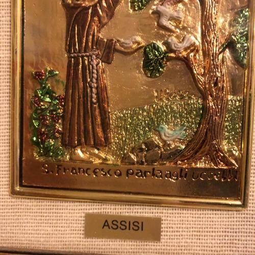 cuadro de francisco de asis hecho en italia