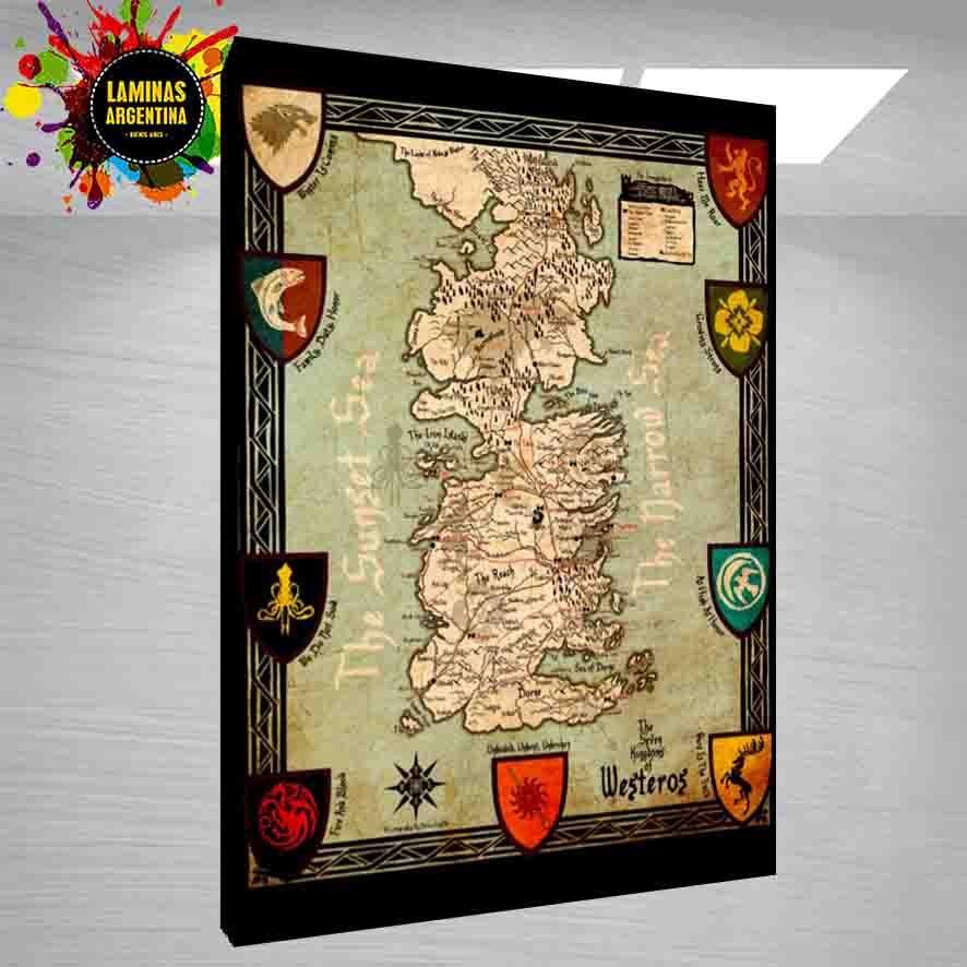 Cuadro De Game Of Thrones Mapa Todas Las Series Que Quieras