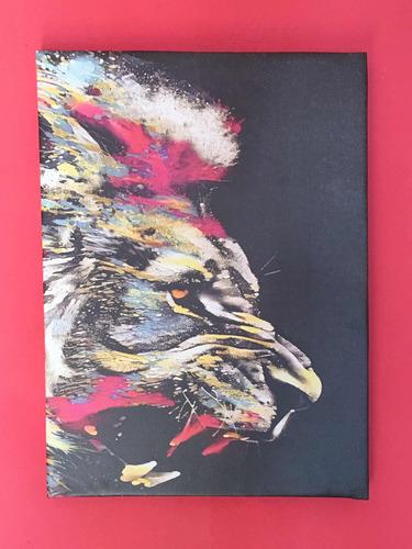 cuadro de interior deco   leon. color  40x55