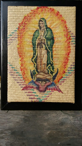 cuadro de la virgen en oleo