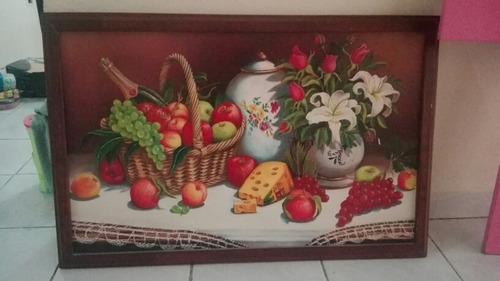 cuadro de madera de frutas