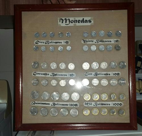 cuadro de monedas para guindar
