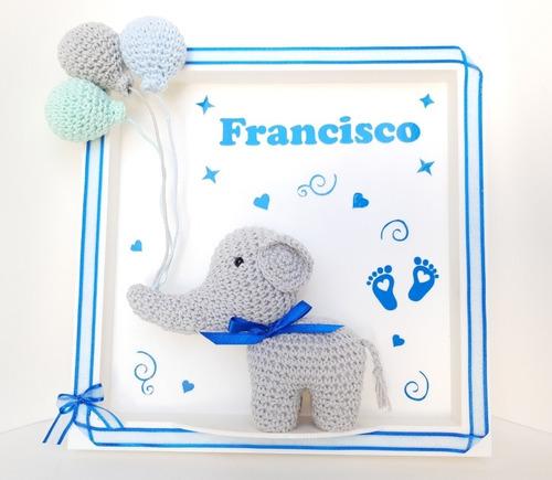 cuadro de nacimiento elefantit@ bebé