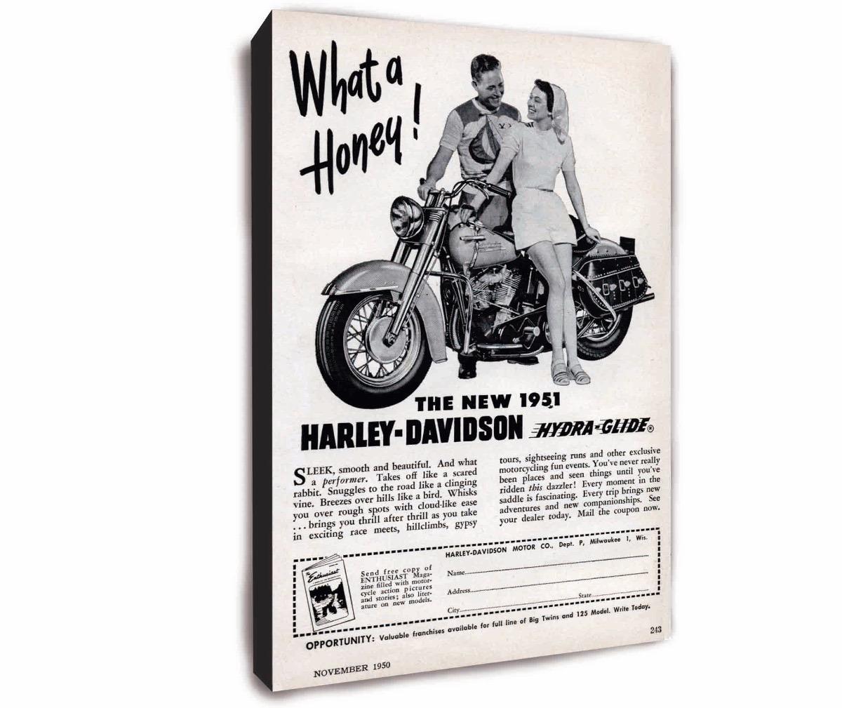 Cuadro De Patente De Moto Harley Davidson Y Mucho Mas - $ 499,49 en ...