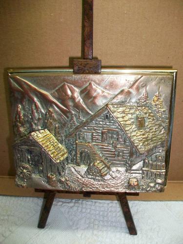 cuadro de pie berger de vitrina cubierto en silver