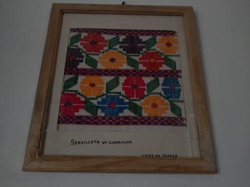 cuadro de servilleta típica oaxaqueña