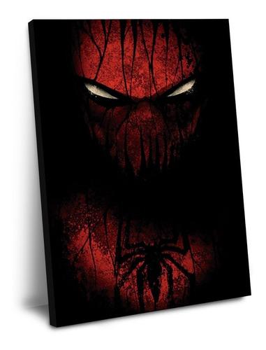 cuadro de spider man sombrio 60 x 40