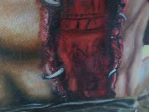cuadro de templario dantes infierno oleo hecho a mano unico