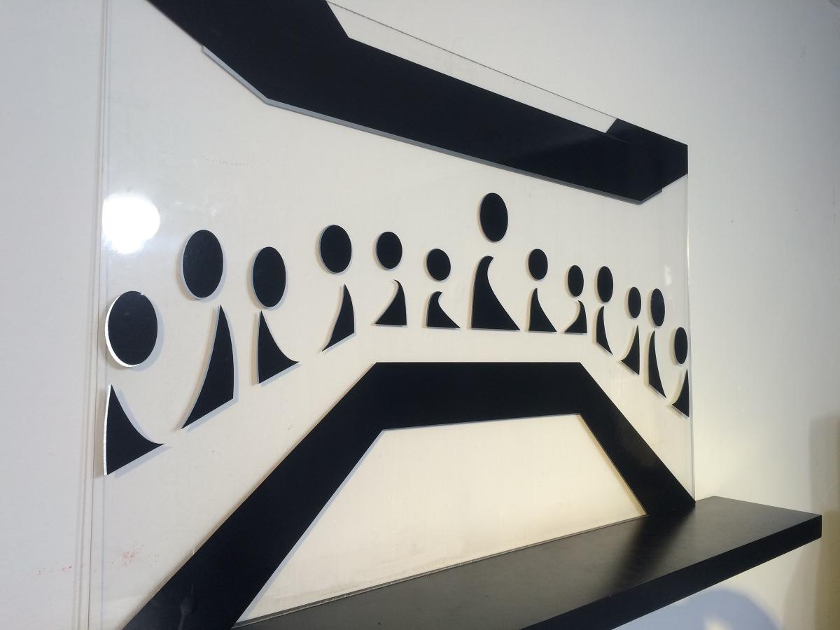 Cuadro minimalista ltima cena arte decoraci n hogar for Cuadros decoracion hogar